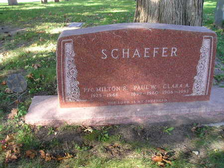 SCHAEFER, PAUL W - Bremer County, Iowa | PAUL W SCHAEFER