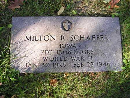 SCHAEFER, MILTON R - Bremer County, Iowa | MILTON R SCHAEFER