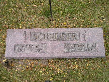 SCHNEIDER, EDWARD K - Bremer County, Iowa | EDWARD K SCHNEIDER