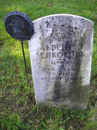 SCHROEDER, ALBERT J - Bremer County, Iowa | ALBERT J SCHROEDER
