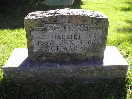 SCHWARZE, HARRIET ANN - Bremer County, Iowa | HARRIET ANN SCHWARZE