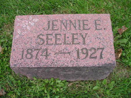 SEELEY, JENNIE E - Bremer County, Iowa | JENNIE E SEELEY