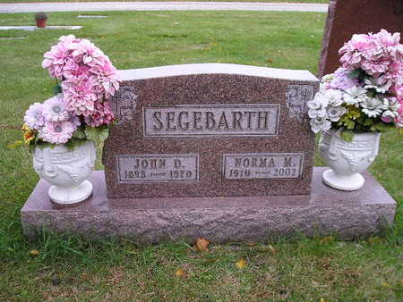 SEGEBARTH, JOHN D - Bremer County, Iowa | JOHN D SEGEBARTH