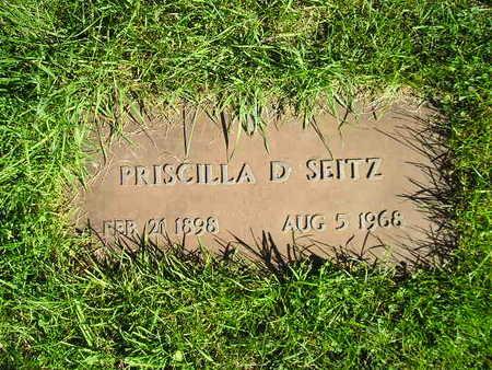 SEITZ, PRISCILLA D - Bremer County, Iowa | PRISCILLA D SEITZ