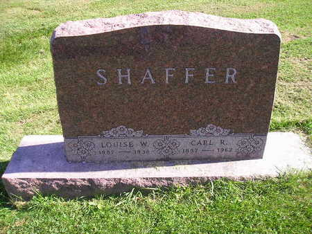 SHAFFER, LOUISE W - Bremer County, Iowa | LOUISE W SHAFFER