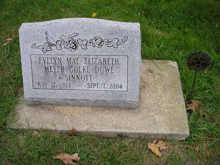 SINNOTT, EVELYN MAE ELIZABETH - Bremer County, Iowa | EVELYN MAE ELIZABETH SINNOTT