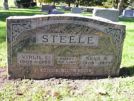 STEELE, NEVA N - Bremer County, Iowa | NEVA N STEELE