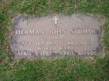 STUMME, HERMAN JOHN - Bremer County, Iowa | HERMAN JOHN STUMME