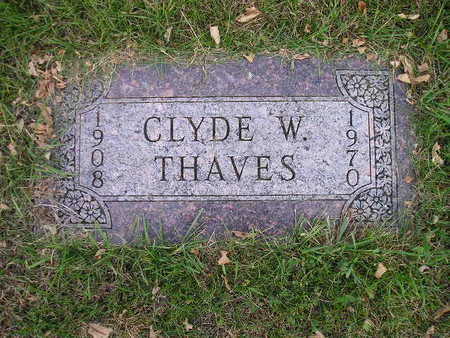 THAVES, CLYDE W - Bremer County, Iowa | CLYDE W THAVES