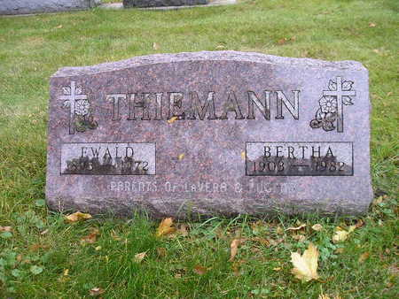 THIEMANN, BERTHA - Bremer County, Iowa | BERTHA THIEMANN