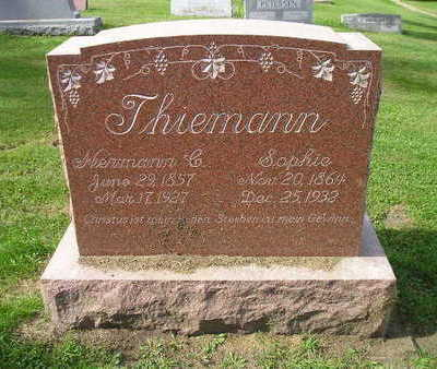 THIEMANN, HERMANN C - Bremer County, Iowa | HERMANN C THIEMANN