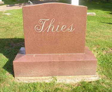 THIES, FAMILY HEADSTONE - Bremer County, Iowa | FAMILY HEADSTONE THIES