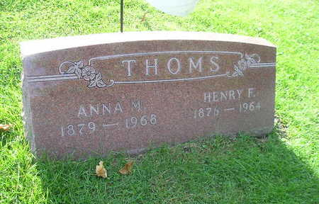 THOMS, ANNA M - Bremer County, Iowa | ANNA M THOMS