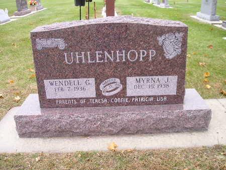 UHLENHOPP, WENDELL G - Bremer County, Iowa | WENDELL G UHLENHOPP