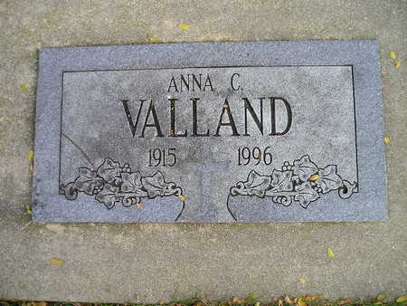 VALLAND, ANNA C - Bremer County, Iowa | ANNA C VALLAND