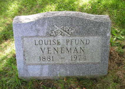 PFUND VENEMAN, LOUISE - Bremer County, Iowa | LOUISE PFUND VENEMAN