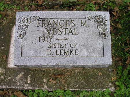 VESTAL, FRANCES M - Bremer County, Iowa | FRANCES M VESTAL