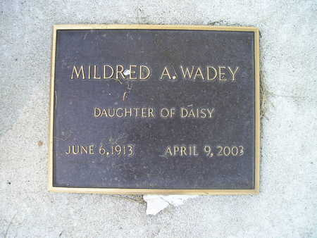 WADEY, MILDRED A - Bremer County, Iowa | MILDRED A WADEY