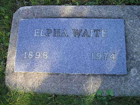 WAITE, ELPHA - Bremer County, Iowa | ELPHA WAITE