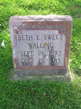 SWEET WALLING, BETH E - Bremer County, Iowa | BETH E SWEET WALLING