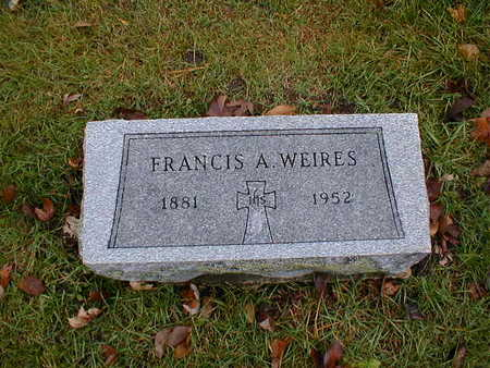 WEIRES, FRANCIS A - Bremer County, Iowa | FRANCIS A WEIRES