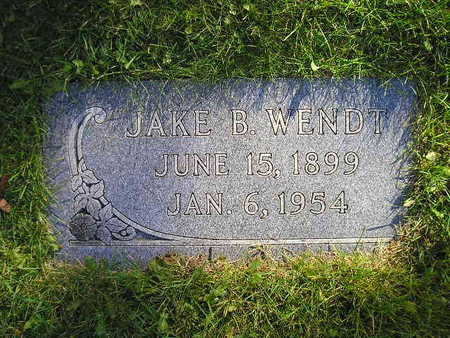WENDT, JAKE B - Bremer County, Iowa | JAKE B WENDT