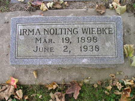 WIEBKE, IRMA - Bremer County, Iowa | IRMA WIEBKE