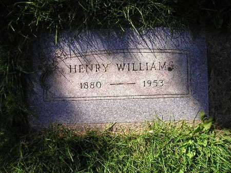 WILLIAMS, HENRY - Bremer County, Iowa | HENRY WILLIAMS