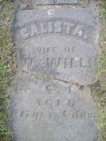 WILLIS, GALISTA - Bremer County, Iowa | GALISTA WILLIS