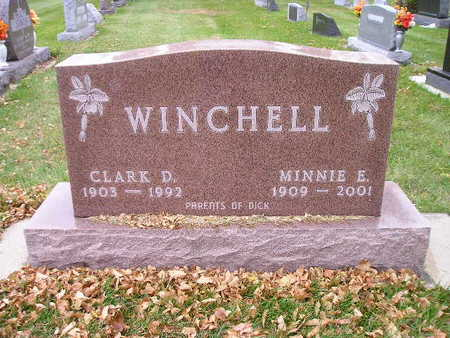 WINCHELL, MINNIE E - Bremer County, Iowa | MINNIE E WINCHELL