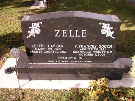 ZELLE, V FRANCES - Bremer County, Iowa | V FRANCES ZELLE