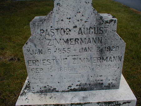ZIMMERMANN, AUGUST PASTOR - Bremer County, Iowa | AUGUST PASTOR ZIMMERMANN