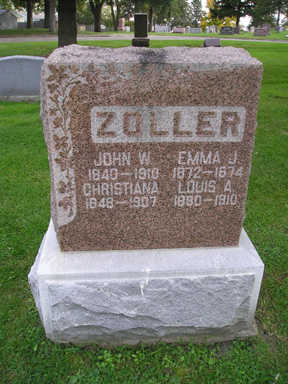 ZOLLER, LOUIS A - Bremer County, Iowa | LOUIS A ZOLLER