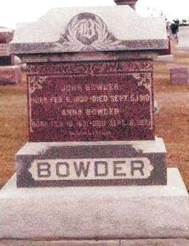 BOWDER, ANNA - Buchanan County, Iowa | ANNA BOWDER