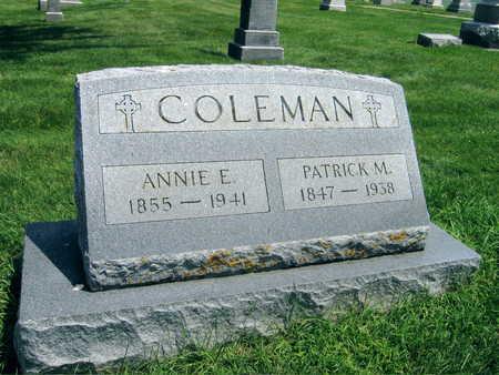 COLEMAN, ANNIE E. - Buchanan County, Iowa | ANNIE E. COLEMAN