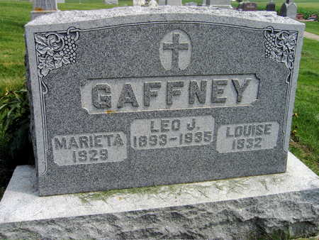 GAFFNEY, LEO J. - Buchanan County, Iowa | LEO J. GAFFNEY