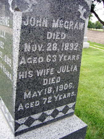 MCGRAW, JULIA - Buchanan County, Iowa | JULIA MCGRAW
