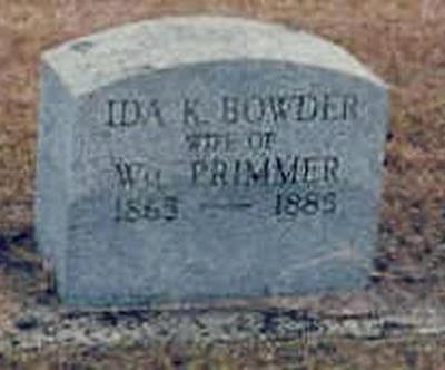 BOWDER PRIMMER, IDA - Buchanan County, Iowa | IDA BOWDER PRIMMER