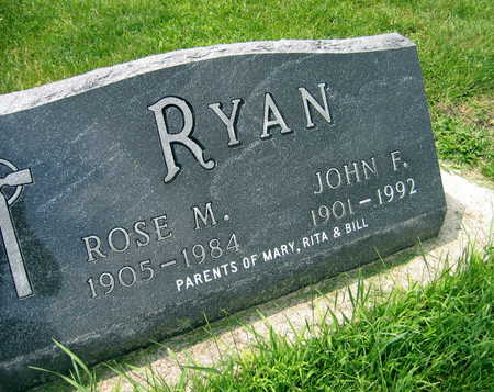 RYAN, JOHN F. - Buchanan County, Iowa | JOHN F. RYAN