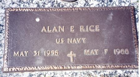 RICE, ALAN E - Buena Vista County, Iowa | ALAN E RICE