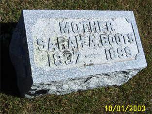 BOOTS, SARAH ANN - Butler County, Iowa | SARAH ANN BOOTS
