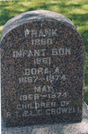 CROWELL, FRANK, INFANT, DORA - Butler County, Iowa | FRANK, INFANT, DORA CROWELL