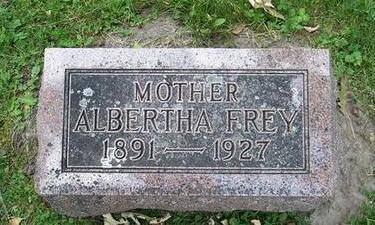 FREY, ALBERTHA - Butler County, Iowa | ALBERTHA FREY