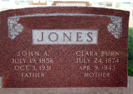 BURN JONES, CLARA - Butler County, Iowa | CLARA BURN JONES