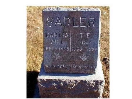 SADLER, MARTHA, T.E. - Butler County, Iowa | MARTHA, T.E. SADLER