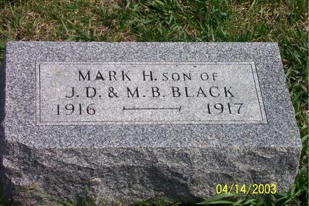 BLACK, MARK H. - Calhoun County, Iowa | MARK H. BLACK