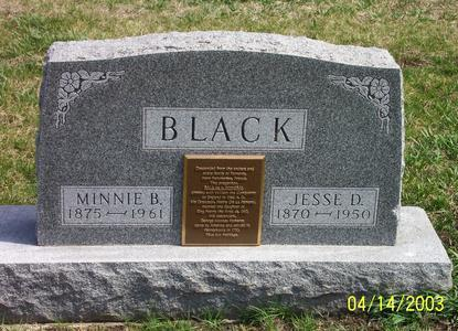 BLACK, MINNIE - Calhoun County, Iowa | MINNIE BLACK