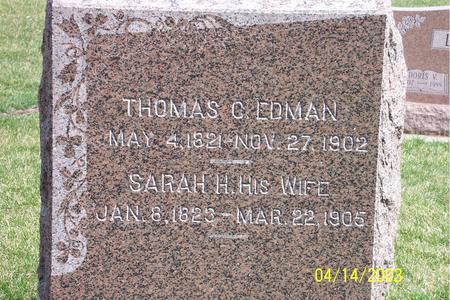 EDMAN, SARAH H. - Calhoun County, Iowa | SARAH H. EDMAN