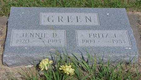 GREEN, JENNIE - Calhoun County, Iowa | JENNIE GREEN