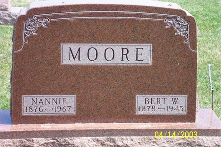 MOORE, NANNIE - Calhoun County, Iowa | NANNIE MOORE